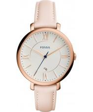Fossil ES3988 Ladies jacqueline lys blush læderrem ur