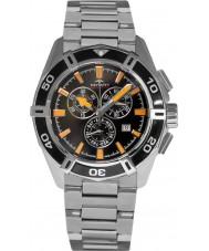 Rotary AGB90088-C-04 Mens AQUASPEED pacific sort sølv kronograf ur