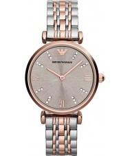 Emporio Armani AR1840 Ladies klassiske stål og rosa guld ur
