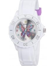 Tikkers TK0052 Piger hvid glitter sommerfugl ur