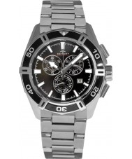 Rotary AGB90089-C-04 Mens AQUASPEED pacific sort sølv kronograf ur