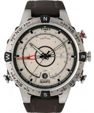 Timex T2N721 MENS naturlig brun tidevand temp kompas ur
