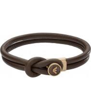 Emporio Armani EGS2213251 Mens signatur brune læder armbånd