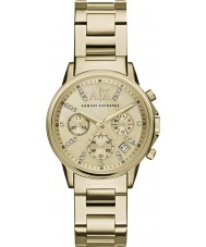 Armani Exchange AX4327 Ladies kjole forgyldt kronograf ur