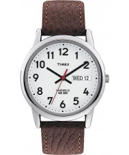 Timex T20041 Mens White brun let læser ur