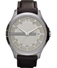 Armani Exchange AX2100 MENS mørkebrunt læderrem kjole ur