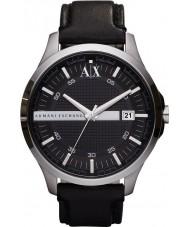 Armani Exchange AX2101 Mens Black læderrem kjole ur
