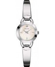 Bulova 96P154 Ladies diamanter sølv stål armbånd ur