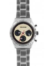 Zadig and Voltaire ZVM103 Master sølv stål kronograf ur
