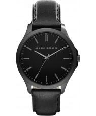 Armani Exchange AX2148 Mens kjole sort læderrem ur
