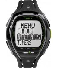 Timex TW5K96400 Ironman 150-lap fuld størrelse slank sort resin rem kronograf ur