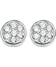 Thomas Sabo H1848-051-14 Ladies mousserende cirkler zirconia bane disc stud øreringe